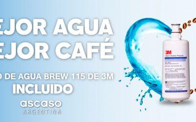 PORQUE EL SABOR ES TODO ASCASO ARGENTINA TE OBSEQUIA EL FILTRO DE AGUA BREW 115 DE 3M PARA TU CAFÉ DE ESPECIALIDAD
